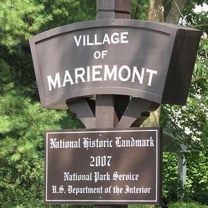 Mariemont National Historic Landmark Sign